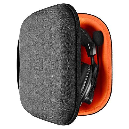 Geekria - Custodia UltraShell per Turtle.Beach Stealth 700, X12, PX22, PX24, Elite Pro 2 + cuffie, custodia protettiva di ricambio da viaggio, con spazio per accessori (grigio scuro)
