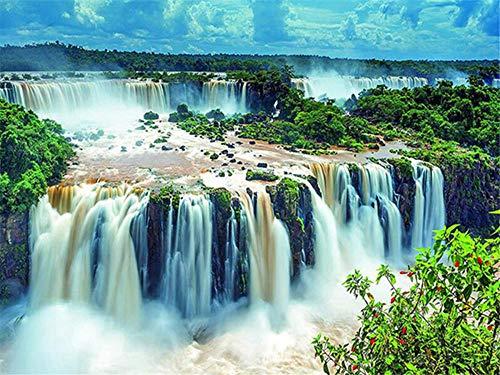 Rompecabezas para adultos / adolescentes / niños (2000 piezas) (Cataratas del Iguazú) 2000 piezas de rompecabezas para adultos, adolescentes, rompecabezas, divertido juego de rompecabezas grande, des