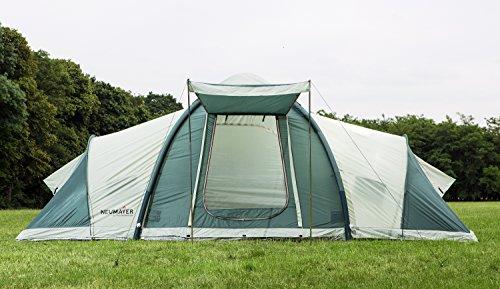 NEUMAYER - AUFBLASBARES Kuppel-Zelt Enterprise 4- bis 6-Personen-Zelt - 5,7x2,6m - 14,82qm Grundfläche - 2 getrennte Schlafkabinen + Aufenthaltsraum mit 1,95m Stehhöhe - 4000mm