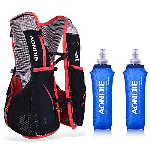 Lixada 5L Hydratation Gilet Eau Vessie Sac À Dos Randonnée en Plein Cours Exécution Vélo Marathon Hydratation Pack (Rouge-S-M-2)