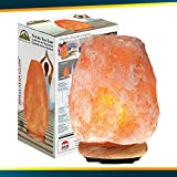 Himalayan Glow Natural Himalayan Salt Lamp, Crystal Salt Lamps, Real Wood Base with Dimmer Switch, Handmade Salt Lamp, Gift Lamp, Holiday Gift, ETL Certified | 7-11 LBS