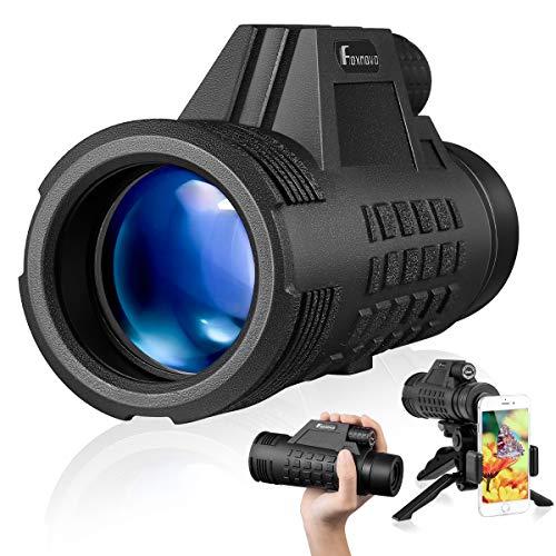 Best Price! Foxnovo Monocular Telescope 8×42 High Power Monoculars Scope Portable Scope Smartphone Tripod Scope, Waterproof Shockproof HD BAK4 Prism FMC Monoscope for Bird Watching, Hunting, Camping, Wildlife