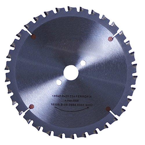 Connex COM361903 handcirkelzaagblad, hard metaal, Ferroline precisie-uitvoering, 190 x 30/20/16 mm, 38 tanden