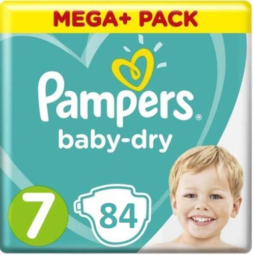 Pampers Baby Dry Gr Größe 7 Extra Groß Windeln 15 + kg Micro Pearls 84 Stück