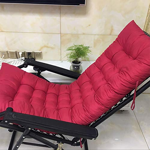 DL&VE Patio Chaise Lounger Cushion,Indoor Outdoor Chaise Lounger Cushions,Soft Cushions,Beach Chair Foldable Cotton Seat Outdoor Patio