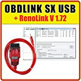 MISTER DIAGNOSTIC OBDLINK SX USB + RenoLink V 1.72 – Diagnose Pro kompatibel mit Renault und Dacia