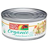 Valley Fresh Organic Canned Chicken Breast with Rib Meat in Water, 5 Ounce (Pack of 4)