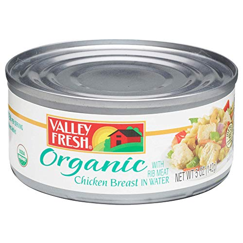 VALLEY FRESH, Organic White Chicken in Water, 5 Ounce