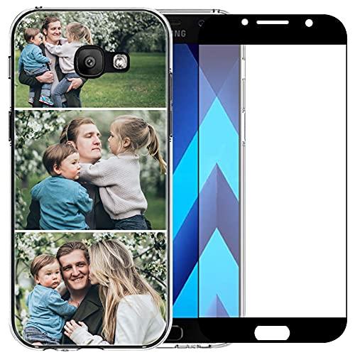 Carcasa de teléfono compatible con Samsung Galaxy A5 2017 (Clear Layuot 3 imágenes)