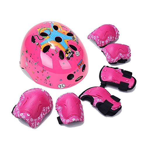 Best Buy! LLQQ Kids 7 Pieces Outdoor Sports Protective Gear Set Boys Girls Cycling Helmet Safety Pad...