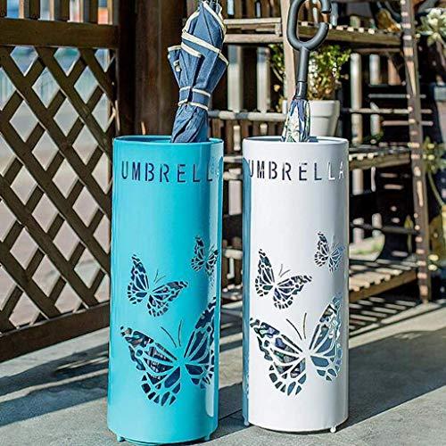 CX Soporte para paraguas, soporte de paraguas de metal Soporte para almacenamiento de paraguas esférico Soporte de paraguas para bastones/bastones Decoración de la oficina en casa/Blanco