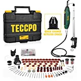 Upgraded Rotary Tool TECCPO 200W 1.8 amp, 10000-40000RPM, 6 Variable Speed with Flex shaft, Universal Keyless...