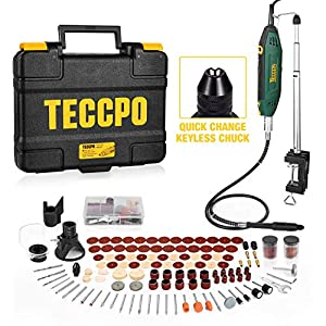 【200W Powerful Motor】 The powerful 200W motor increases the efficiency of the TECCPO Rotary Tool by 30% compared to conventional Rotary Tools. It allows you to finish the job quickly, save time, gain depth, increase power simply and efficiently and m...