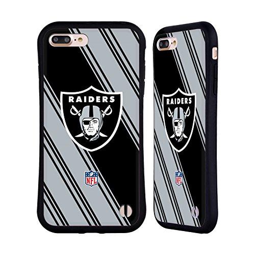 Head Case Designs Oficial NFL Rayas 2017/18 Oakland Raiders Carcasa híbrida Compatible con Apple iPhone 7 Plus/iPhone 8 Plus