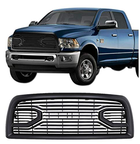NO7RUBAN Front Grill for Dodge 2500 3500 2013-2018 Ram Upper Bumper Grille Big Horn Style (Matte Black)