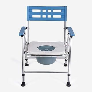 Commode Chair Yuehg Silla De Ducha Regulable En Altura Aleación De Aluminio con Respaldo Y Reposabrazos