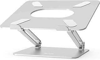 حامل لاب توب قابل للتعديل من بيولينغ، مع رف قابل للطي من الالومنيوم مزود بـ6 مستويات لضبط الارتفاع، ومتوافق مع ماك بوك اير...