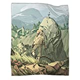 Xaviera Doherty Hairu Warrior Zelda Age of Disaster Game - Coperta regalo in flanella, 130 x 180 cm, morbida e comoda biancheria da letto per bambini