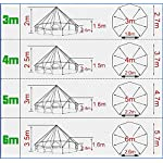 Beige Cotton Canvas, Waterproof PU Coating Bell Tent yurt Tent with a Zipper for Family Camping or Extended Camping Trip reconstruct Houses 7