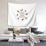 Treat People With Kindness Butterflies (Harry Styles) Boutique Tapestry Wall Hanging Tapestry Vintage Tapestry Wall Tapestry Micro Fiber Peach Home Decor 59.1x51.2 In