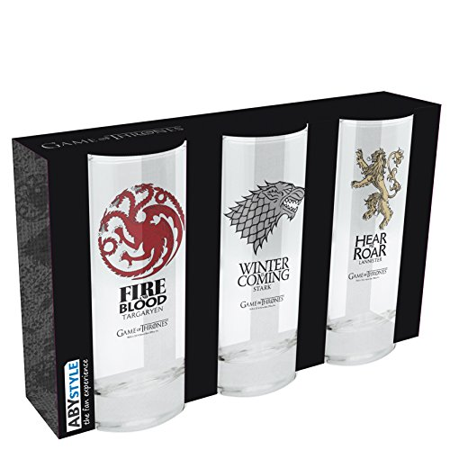 ABYstyle - GAME OF THRONES - Set de 3 verres