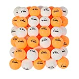 Rally and Roar Premium 3-Star Table Tennis Balls, 50 Count, 40mm, White/Orange - Bulk Table Tennis Balls for...