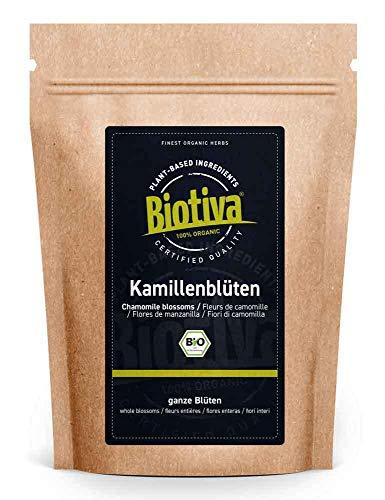 Kamille-bloemen Thee Bio 250 g – EU – teelt – hoogste kwaliteit biologische amillebloemen – kamillentee – gevuld en…