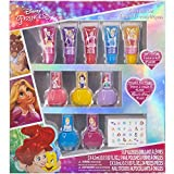 Disney Princess - Townley Girl Super Sparkly Cosmetic Makeup Set for Girls with Lip Gloss Nail Polish Nail Stickers - 11 Pcs|Perfect for Parties Sleepovers Makeovers| Birthday Gift for Girls 3 Yrs+