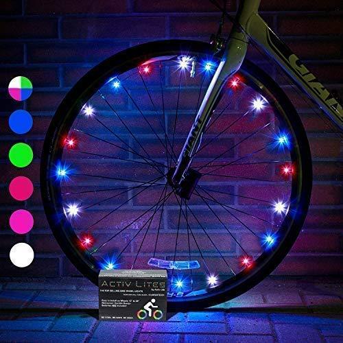 Activ Life Luces LED bicis (Set de 2 Rojo, Blanco y Azul). Regalo Fitness, Deportivo Ideal para Nietos, sobrinos. Idea Popular, Original y Divertida del 2020 para Alguien Que lo Tiene Todo.