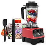 homgeek Countertop Smoothie Blender 1450W, High Speed Blender for Kitchen with 4 Blending Preset Programs, 8 Adjustable Speeds Control and 70 Oz Tritan Pitcher for Shake, Smoothies, Soup