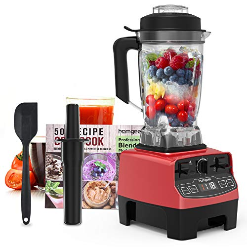 Homgeek Professional Blender, Countertop Blender 1450W, High Power Blender with High Speed, Built-in Timer, Smoothie Maker 68 oz for Crusing Ice,...