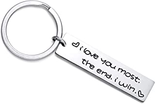 key ring with long chain