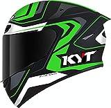 KYT TT Course Overtech Casco Nero/Verde