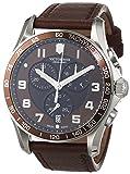 Victorinox Swiss Army Herren-Armbanduhr Chronograph Quarz Leder 241653