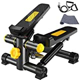 VIN Vinteky Stepper Fitness con Bande di Allenamento Display LED (30 * 30 * 16CM) (A)