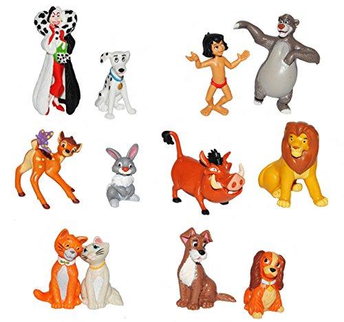 alles-meine.de GmbH 1 Stück: Figur / Sammelfigur - Disney Tiere - aus 101 Dalmatiner / Aristocats / König der Löwen / Dschungelbuch / Susi & Strolch / Bambi - Bullyland - Disney ..
