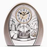 SXZHDZ Orologio da Tavolo Orologio da caminetto Orologio di Squisita Musica Classica Vivente Ostello Retro Muto Nonno Orologio 24,9 x 23 x 9.9cm