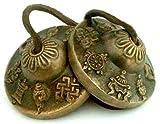 Tingsha Tibetanische Glocken (Windspiel) Buddhistische Lucky Symbole (mittel)