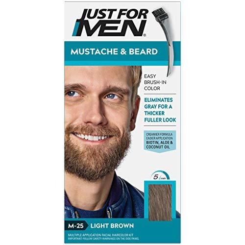 Just for Men JUSTE POUR HOMMES Brosse-In Color Gel, Moustache et barbe M-25 brun clair 1 Chaque (Pack de 6)