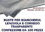 HOME & LAUNDRY Buste Biancheria Lenzuola Coperte TOVAGLIE E CORREDO 65X45Cm per LAVANDERIE 100 Pezzi