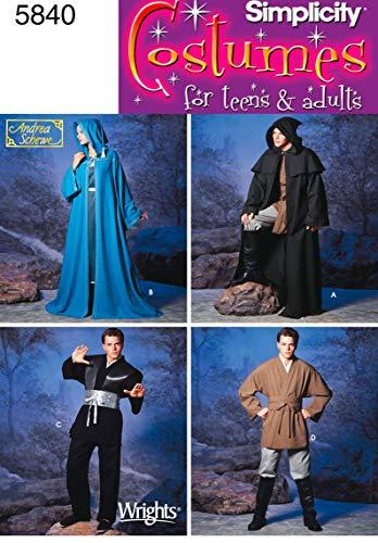 Simplicity Schnittmuster 5840, EIN Kostüm für Damen, Herren und Jugendliche