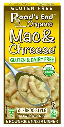 Road's End Organics Mac and Chreese, Organic, Gluten Free - Whole Grain Rice Elbows With Alfredo Sauce Mix Packet, 6-Ounce Boxes (Pack of 12)