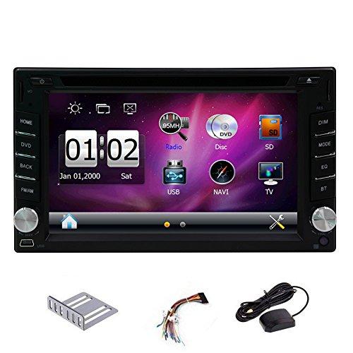 EinCar Autoradio Car DVD Player 2 Din GPS Navigation 6.2-inch HD Touch Screen Stereo Headunit AM FM Radio Vehicle Bluetooth USB SD Audio/Video Input&Output Auto