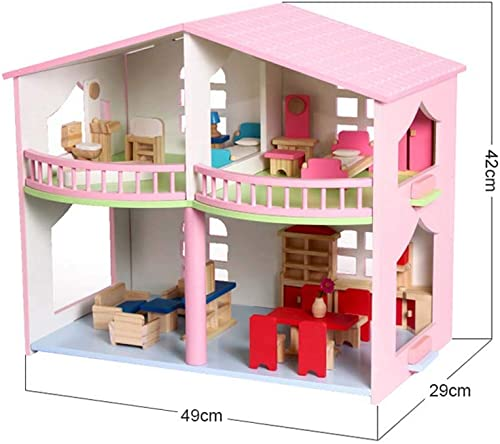 punto de venta barato QIDUll Casa de muñecas muñecas muñecas de Madera para Niños Casa de muñecas de Madera de 3 Pisos con Muebles Casa de muñecas de Alta Costura, Mini casa para niña, Regalo de cumpleaños  minorista de fitness