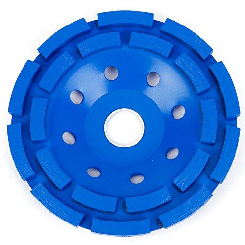 Premium Diamant Schleiftopf 115mm x 22,2mm Doppelreihig Diamant-Schleifteller Schleifscheibe (115mm, Blau) Ersatz