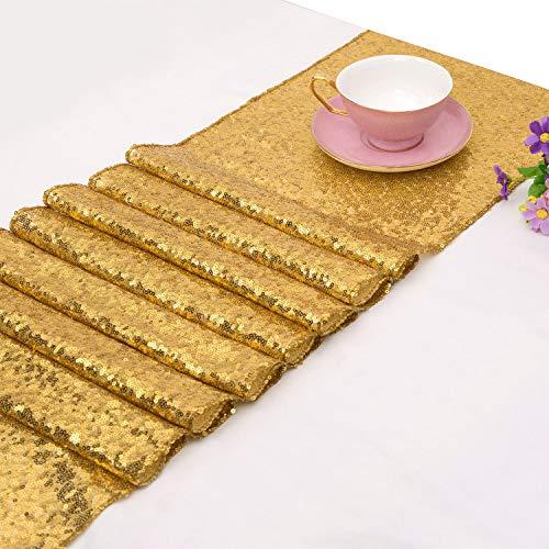 TOROTON Paillettes Runner, 30 X 270 Cm Tovaglia Glitter Per Decorazione Festa Nuziale - Oro