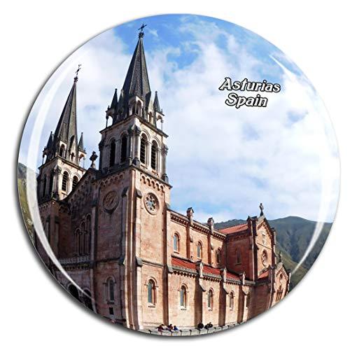 Weekino España Catedral Asturias Imán de Nevera 3D de Cristal de la Ciudad de Viaje Recuerdo Colección de Regalo Fuerte Etiqueta Engomada refrigerador