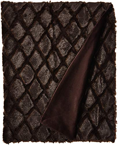 Northpoint Ethereal Workshop Fur Throw, 50x60, Mocha