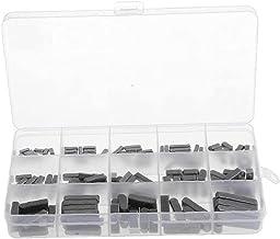 140 STKS Ronde Ended Veer Sleutel Shat Sleutel Motor As Veer Sleutel Set Kit Parallelle Aandrijfas 3-6mm Zwart