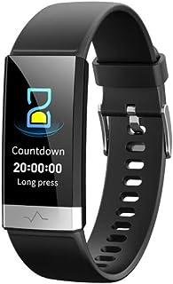 WJDZSB Reloj Inteligente, IP68 Impermeable ECG + PPG + HRV Monitor De Frecuencia Cardíaca Monitor De Presión Arterial Pulsera Actividad Compatible con Teléfonos Android E IOSBlack